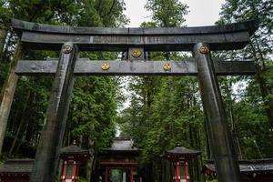 het gebied van de nikko-schrijn in japan foto