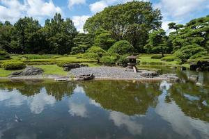 park in de buurt van het keizerspaleis in tokyo foto