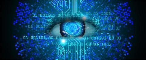 eye cyber circuit toekomstige technologie concept achtergrond foto