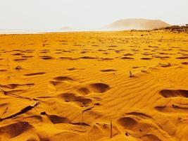 lage hoekmening van gouden zandstrand, karpasia, cyprus foto