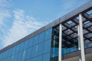 close-up delen van het gebouw in moderne architectuurstijl foto