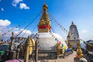 Swayambhunath aka apentempel in Kathmandu, Nepal foto