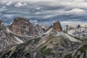 dolomieten landschap een unesco werelderfgoed in zuid-tirol, italië foto
