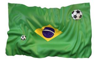 3D-rendering brazilië vlag voetbal voetbal foto