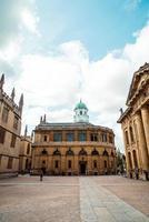 oxford, VK - 29 aug 2019 - Sheldonian Theatre. het Sheldonian Theatre, werd tussen 1664 en 1669 gebouwd voor de universiteit van Oxford en werd gebruikt voor muziekconcerten, lezingen en universitaire ceremonies. foto