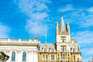 prachtige architectuur in de stad Cambridge foto