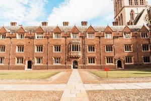 mooie architectuur st. John's College in Cambridge foto