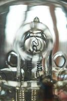 close-up macrofoto van studioflitslamp foto