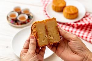 chinese maancake voor chinees mid-herfstfestival foto
