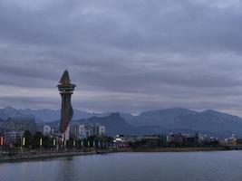 Expo-toren in de stad Sokcho. Zuid-Korea foto