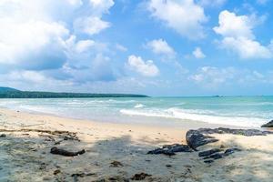 Samila strand. mijlpaal van songkla, thailand. foto