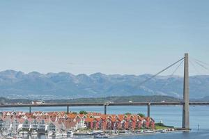 luchtfoto van stavanger in noorwegen foto