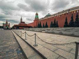 lenin mausoleum op het rode plein in moskou foto
