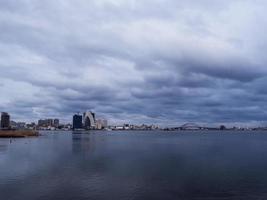 de baai van de stad Sokcho. januari 2017 foto