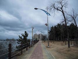 het stadspark in sokcho. Zuid-Korea foto