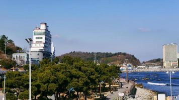 kust van de stad Sokcho. Zuid-Korea, december 2017 foto