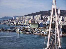 dolsan brug. Yeosu stad foto
