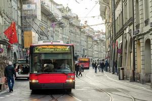 elektrische tram bern, zwitserland foto