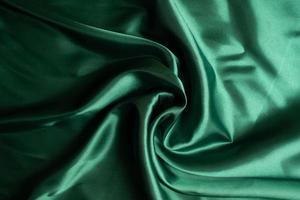 groene stof textuur achtergrond, abstract, close-up textuur van doek foto