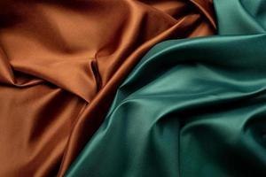 groene en bruine stof textuur achtergrond foto