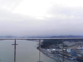 panorama naar de stad Gangneung, Zuid-Korea foto