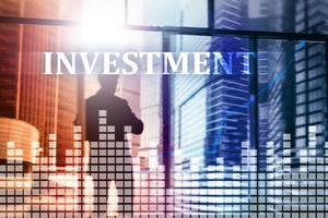 investeringen, roi, financiële marktconcept mixed media foto