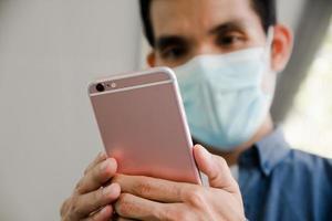 close-up hand met mobiele smartphone technologie, bel telefoon, mobiele telefoon, foto