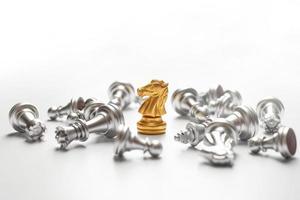 schaakspel winnen, zakelijk succesconcept foto