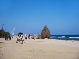 het strand van de stad Gangneung, Zuid-Korea foto