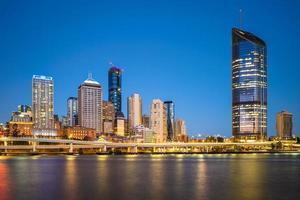 skyline van brisbane in queensland, australië foto