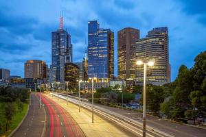 skyline van melbourne, australië foto