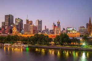 skyline van melbourne, victoria, australië foto