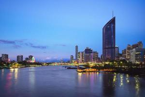 skyline van brisbane, hoofdstad van queensland, australië foto