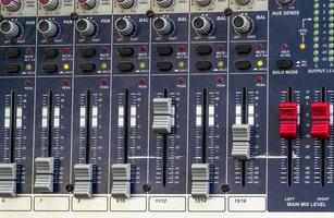 close-up van de mengtafel foto