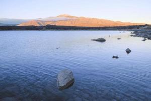 uitzicht op lake tekapo, nieuw-zeeland foto
