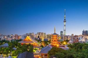 skyline van de stad tokyo in japan foto