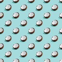 kokosnoot patroon op groene achtergrond. foto