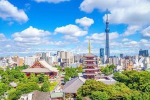 luchtfoto van tokyo, japan foto