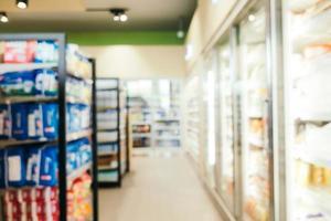 abstracte onscherpte en onscherpe supermarkt verkoopt en winkelt foto