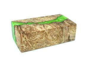 gieten epoxyhars stabiliserende burl leza salao hout abstracte kunst geïsoleerde achtergrond foto