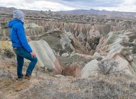 toerist in cappadocië foto