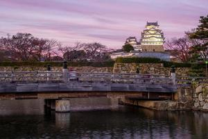 himeji-kasteel, ook bekend als wit zilverreigerkasteel in hyogo, japan foto