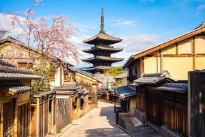 yasaka noto pagode aka hokanji tempel in kyoto, japan foto