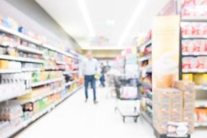 abstracte onscherpte supermarkt foto