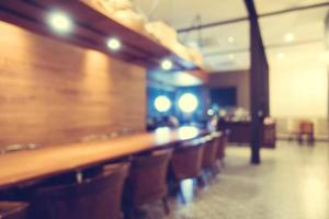 abstract vervagen coffeeshop en restaurant foto