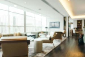 abstracte onscherpte en onscherpe hotel en lobby interieur foto