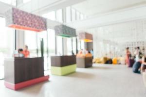 abstracte vervaging en onscherpe hotel looby en lounge foto