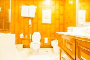 abstract vervagen en onscherp toilet en badkamer foto