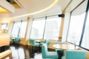 abstracte onscherpte en onscherpe coffeeshop café en restaurant interieur foto