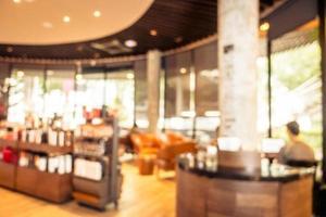 abstracte onscherpte en onscherpe coffeeshop café en restaurant foto
